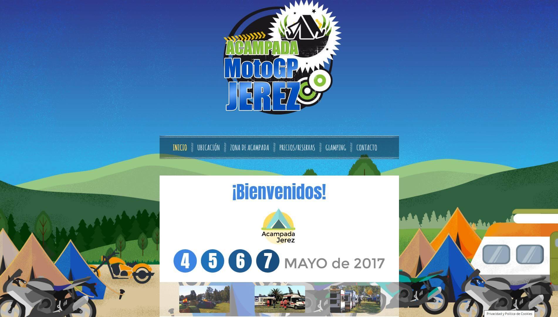 web de la acampada